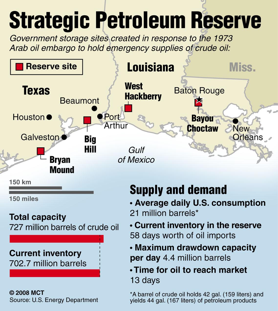 US Strategic Oil Reserves Map Washington University Political - Us oil reserves map