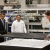 President Obama inspecting a Solyndra lab.