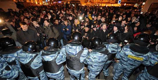 An anti-Putin rally in December