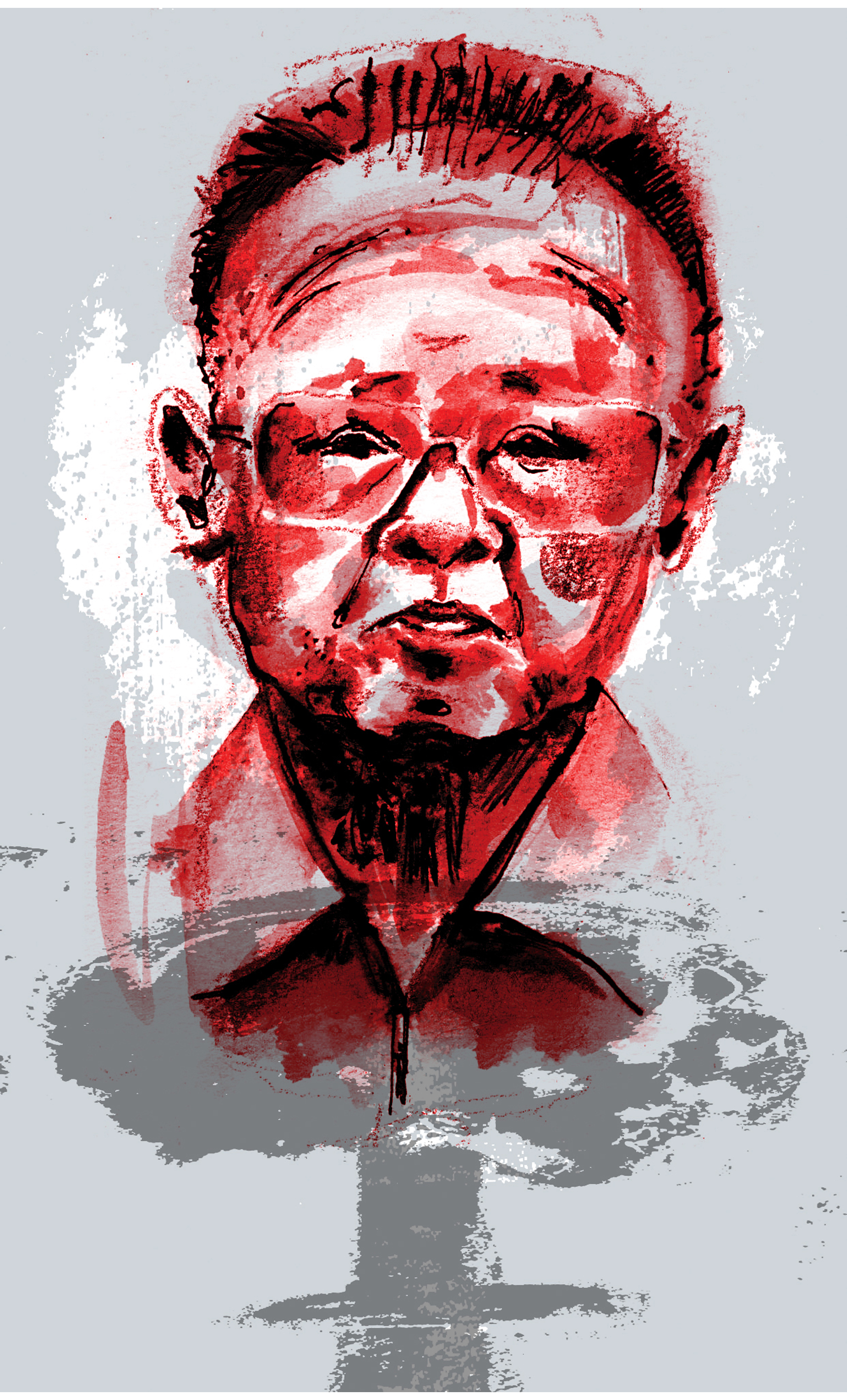 illustration of the late Korean leader Kim Jong Il