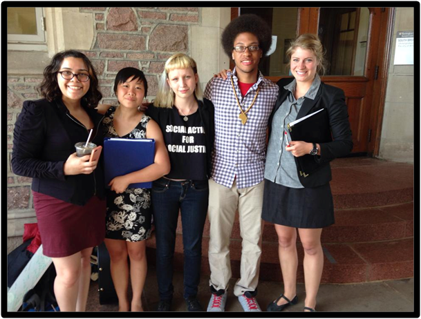 Representatives of Wash. U. Students Against Peabody
