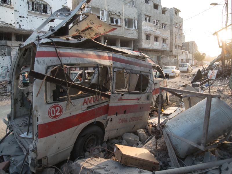 gaza ambulance